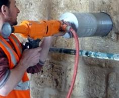 Concrete Drilling into a Wall